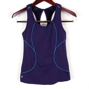 Athleta Blue Racer Back Keyhole Tank Top C42
